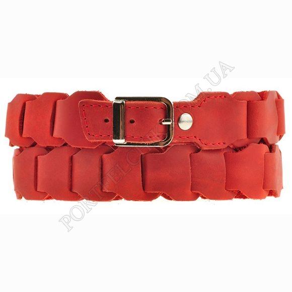 Жіночій ремінь BlankNote BN-BELT-1-Coral червоний