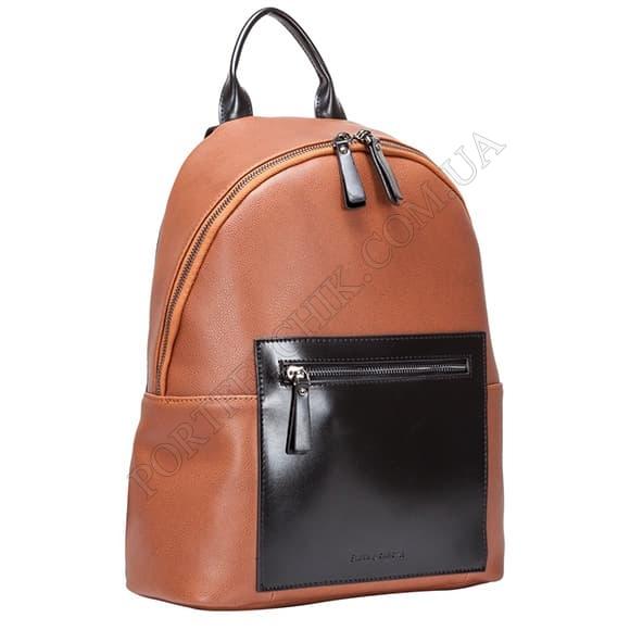 Шкіряний рюкзак Smith & Canova 92169 Tan коричневий, комбінований