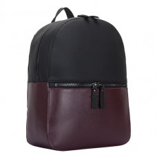 Рюкзак кожаный Smith & Canova 92901 BLK-BURGUNDY