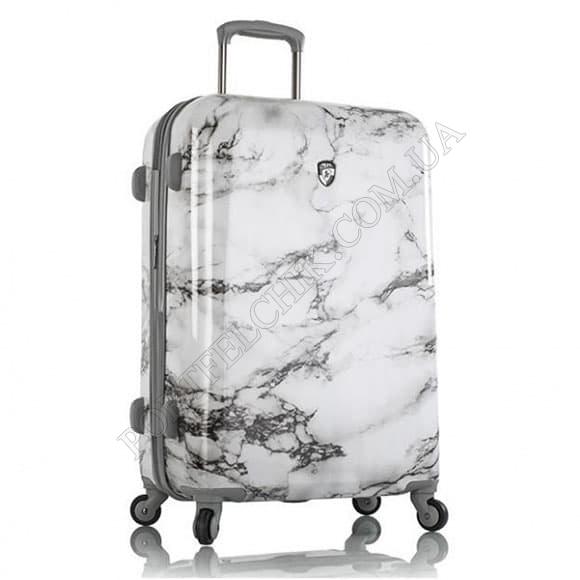 Чемодан на колесах Heys Bianco (M) White Marble принт средний