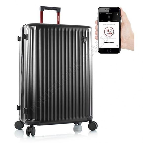 Чемодан на колесах Heys Smart Connected Luggage (L) Black черный большой