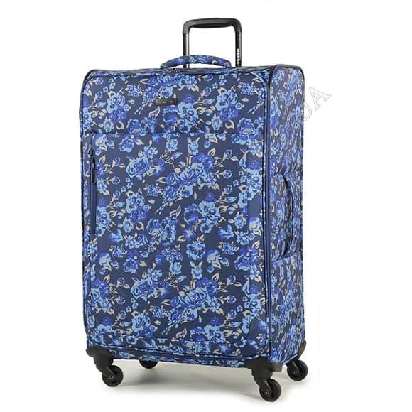 Чемодан на колесах Members Vogue (L) Flower синий большой