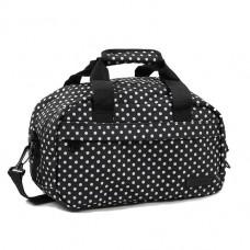 Members Essential On-Board Travel Bag 12.5 Black Polka