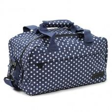 Members Essential On-Board Travel Bag 12.5 Navy Polka