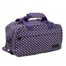 Members Essential On-Board Travel Bag 12.5 Purple Polka