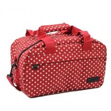 Members Essential On-Board Travel Bag 12.5 Red Polka