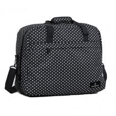Members Essential On-Board Travel Bag 40 Black Polka