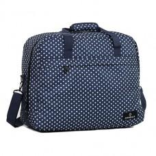 Members Essential On-Board Travel Bag 40 Navy Polka