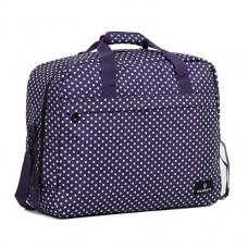Members Essential On-Board Travel Bag 40 Purple Polka