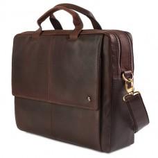 Сумка портфель кожаная Visconti ML-24 Brown