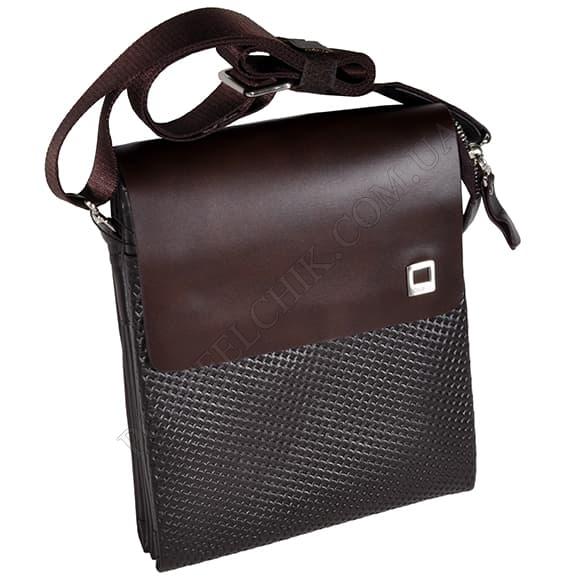 Мужская сумка через плечо Gufo 7100-4-112 коричневый