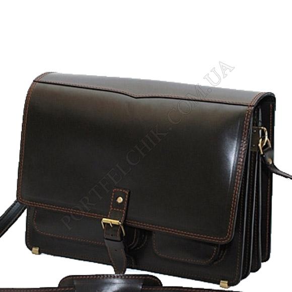 Чоловіча сумка через плече Manufatto-Листоноша Black чорний