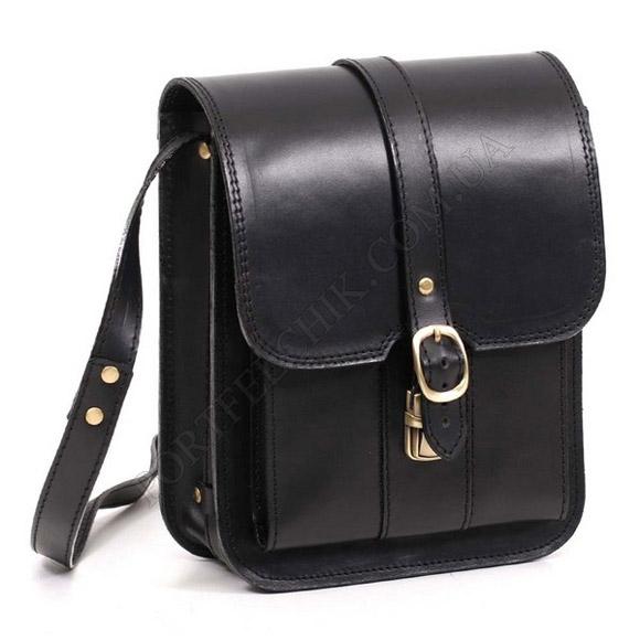 Мужская сумка через плечо Manufatto СПБ-3 Black черный