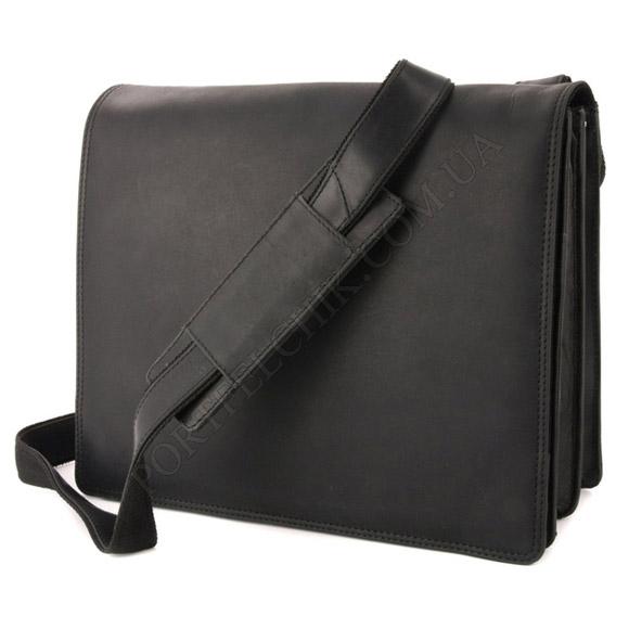 Чоловіча сумка через плече Visconti 16025 OIL BLK чорний