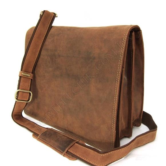 Мужская сумка через плечо Visconti 16025 OIL TAN коричневый