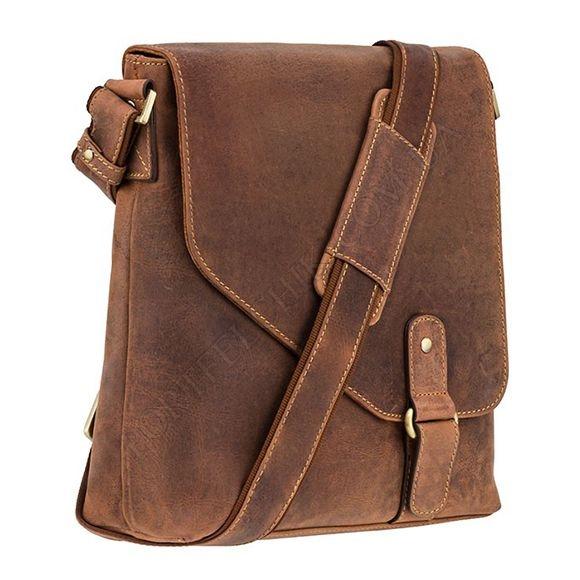 Чоловіча сумка через плече Visconti 16071 OIL TAN коричневий