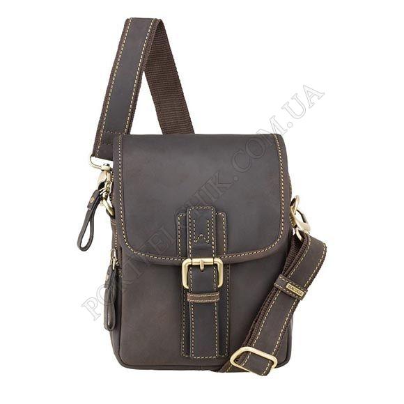 Чоловіча сумка через плече Visconti 16208 OIL BRN коричневий