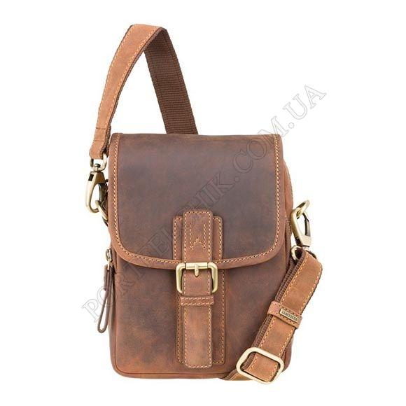 Чоловіча сумка через плече Visconti 16208 OIL TAN коричневий