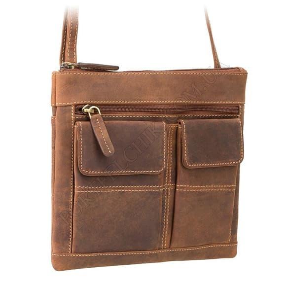 Сумка мужская через плечо Visconti 18608 Oil Tan коричневый