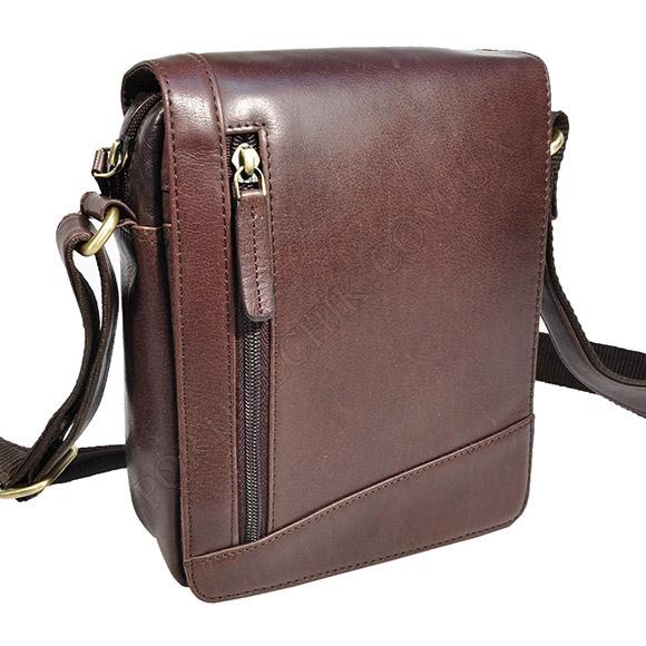 Чоловіча сумка через плече Visconti S-7 BRN коричневий