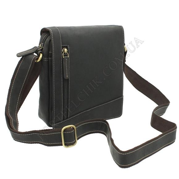 Мужская сумка через плечо Visconti S-7 OIL BRN коричневый