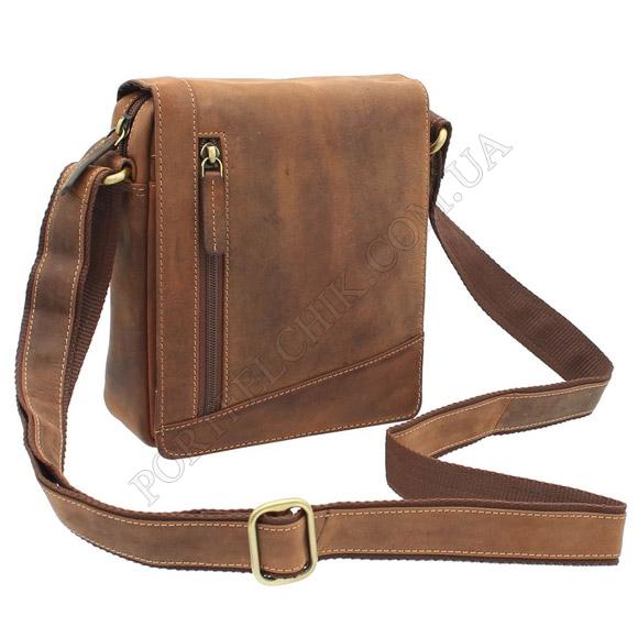 Мужская сумка через плечо Visconti S-7 OIL TAN коричневый