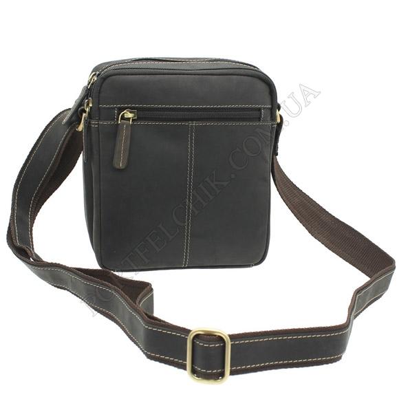 Чоловіча сумка через плече Visconti S-8 OIL BRN коричневий