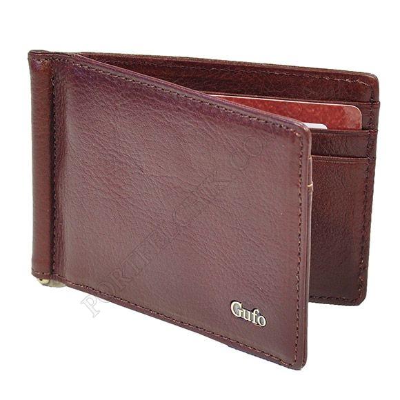 Зажим для денег Gufo 1231011 коричневый