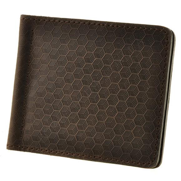Затиск для грошей BlankNote BN-PM-1-O-Karbon коричневий