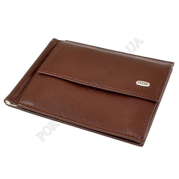 Затиск для грошей Petek 143-000-222 коричневий
