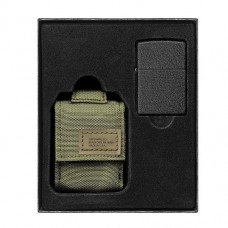 Zippo 49400 236 Blk Crackle Ltr Tactical Pouch OD Green GS