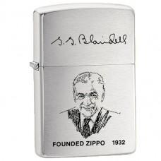 Зажигалка Zippo 200 FL Founders Lighter Brushed Chrome