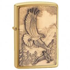 Зажигалка Zippo 20854 Where Eagles Dare Brushed Brass