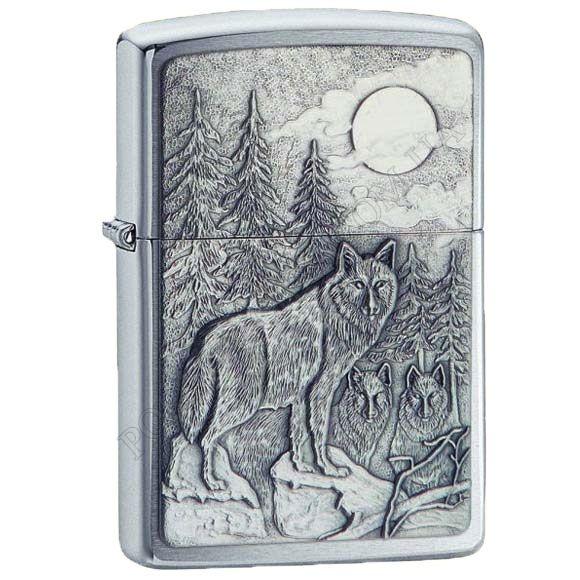 Запальничка Zippo 20855 Timberwolves Emblem Brushed Chrome