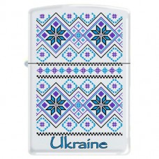 Запальничка Zippo 214 UP/2 Ukraine Pattern White Matte