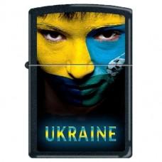 Запальничка Zippo 218 US Ukraine Soccer Face Black Matte