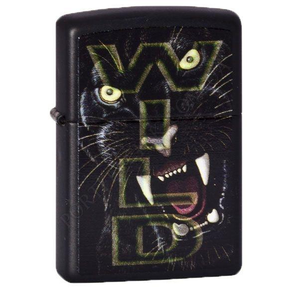 Зажигалка Zippo 218.412 Wild Tiger Black Matte