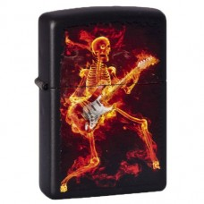 Зажигалка Zippo 218.431 Guitarist Series of Fiery Black Matte