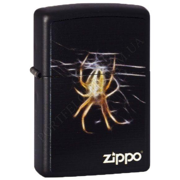 Зажигалка Zippo 218.439 Yellow Spider Black Matte