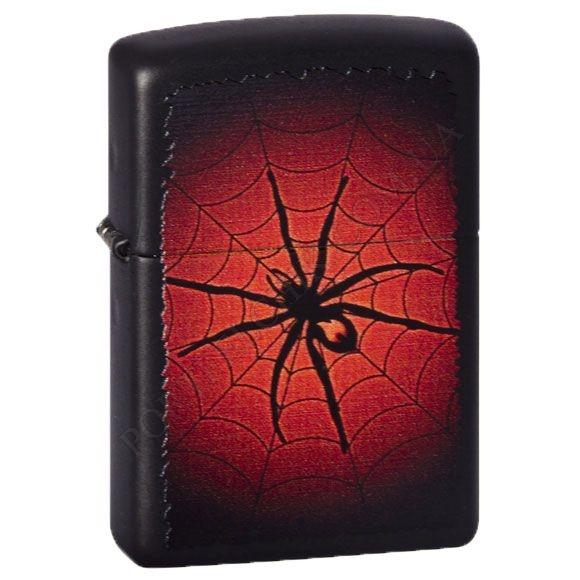 Зажигалка Zippo 218.528 Red Web Black Matte