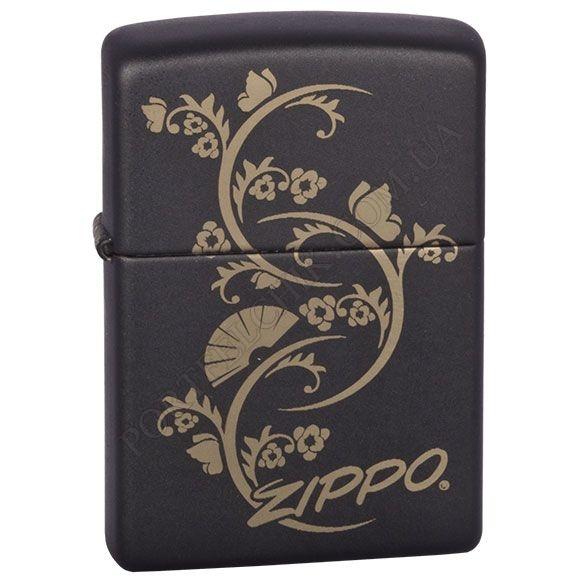 Запальничка Zippo 218.907 Floral Fan Black Matte