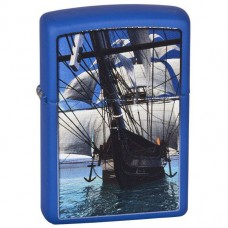 Зажигалка Zippo 229.530 Sailing Ship Royal Blue Matte