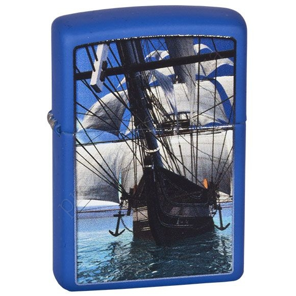Запальничка Zippo 229.530 Sailing Ship Royal Blue Matte