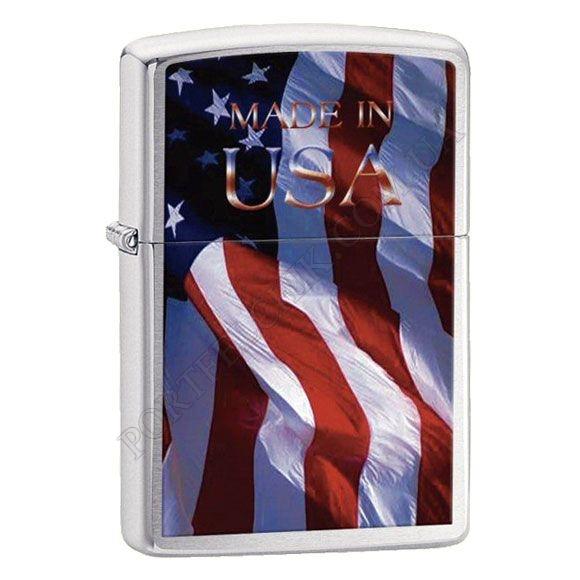 Запальничка Zippo 24797 Made in USA Flag