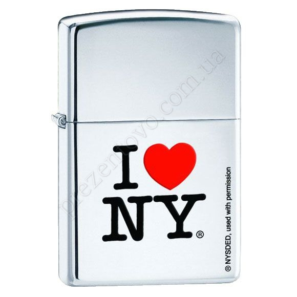 Запальничка Zippo 24799 I Love New York High Polish Chrome