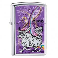 Зажигалка Zippo 24932 Zodiac Taurus High Polish Chrome