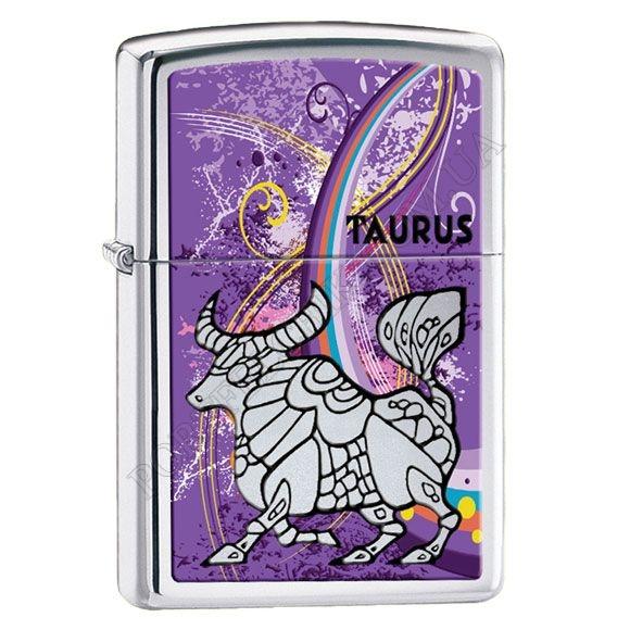 Запальничка Zippo 24932 Zodiac Taurus High Polish Chrome