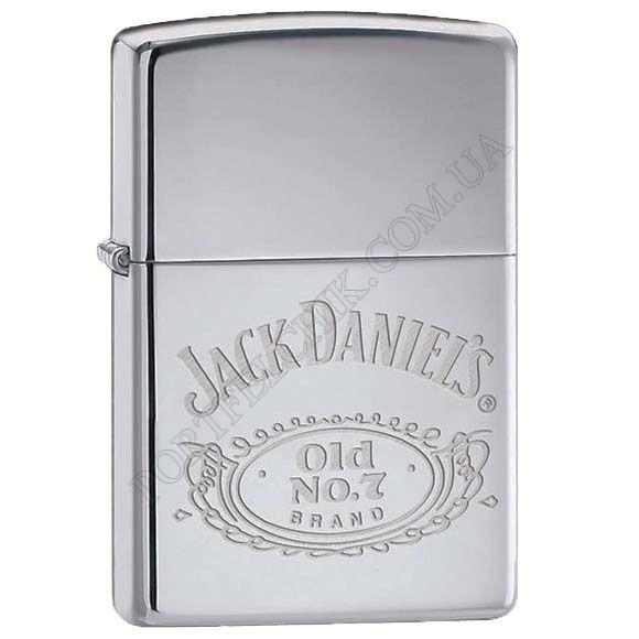 Запальничка Zippo 250 JD 321 Jack Daniels Logo High Polish Chrome