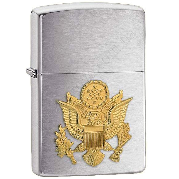 Зажигалка Zippo 280ARM Army Emblem Brushed Chrome