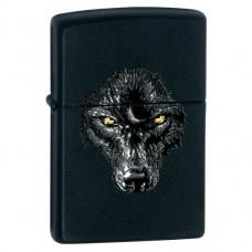 Зажигалка Zippo 28001 Black Wolf Black Matte